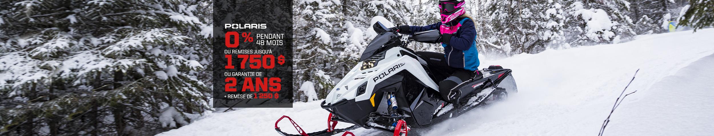 Promotion sur les motoneiges Polaris